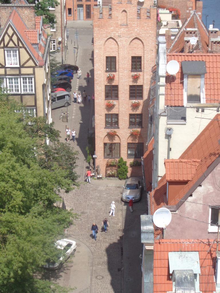 Widok z góry na Główne Miasto w Gdańsku